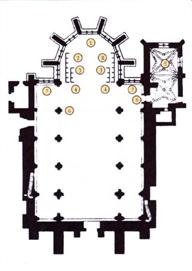 plan de l'église abbatiale