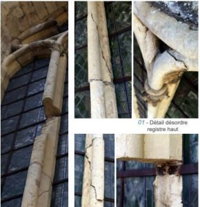 désordres structurels - abside
