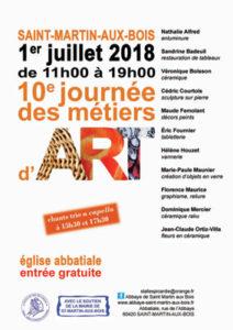 affiche journée des métiers d'art 2018